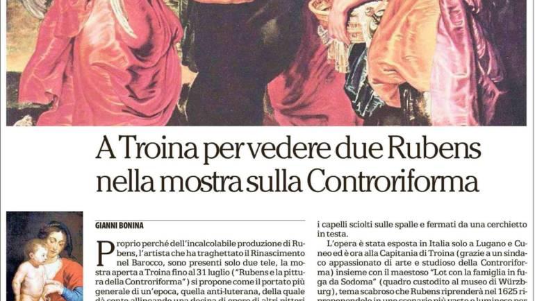 """""""Rubens e la pittura della Controriforma"""" su """"La Repubblica"""""""
