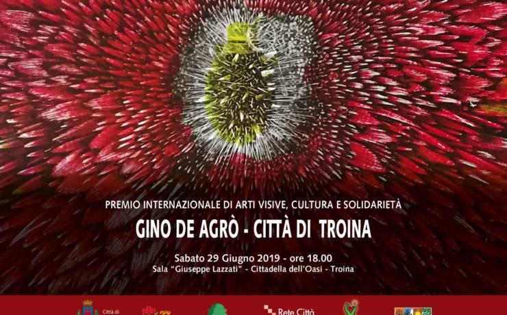 """PREMIO """"GINO DE AGRO' – CITTA' DI TROINA"""" 2019"""
